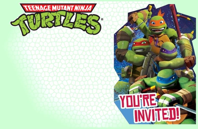 Editable Ninja Turtle Invitation Template Free Printable