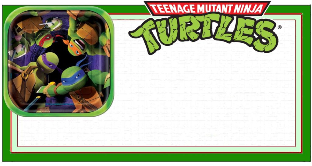 Ninja Turtle Invitation Template 1024x545