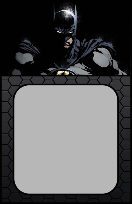Printable Batman Invitation Card