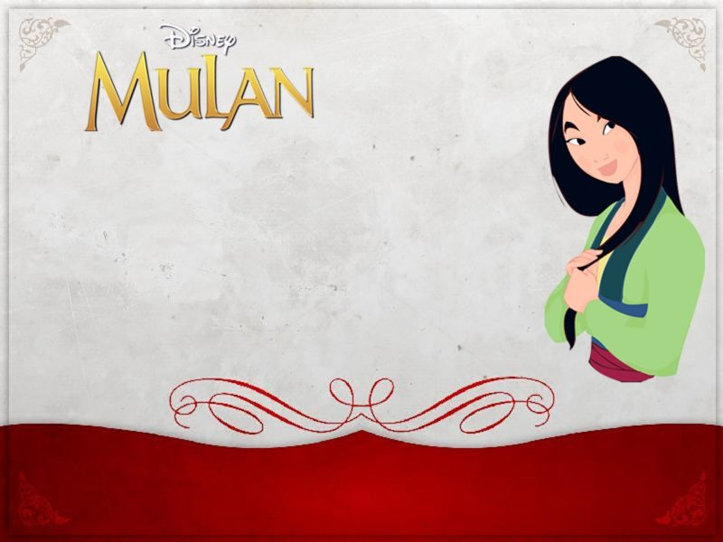Custom Mulan Invitation Card