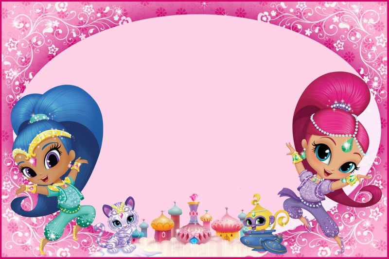 Shimmer And Shine Invitations For Girls Free Invitation