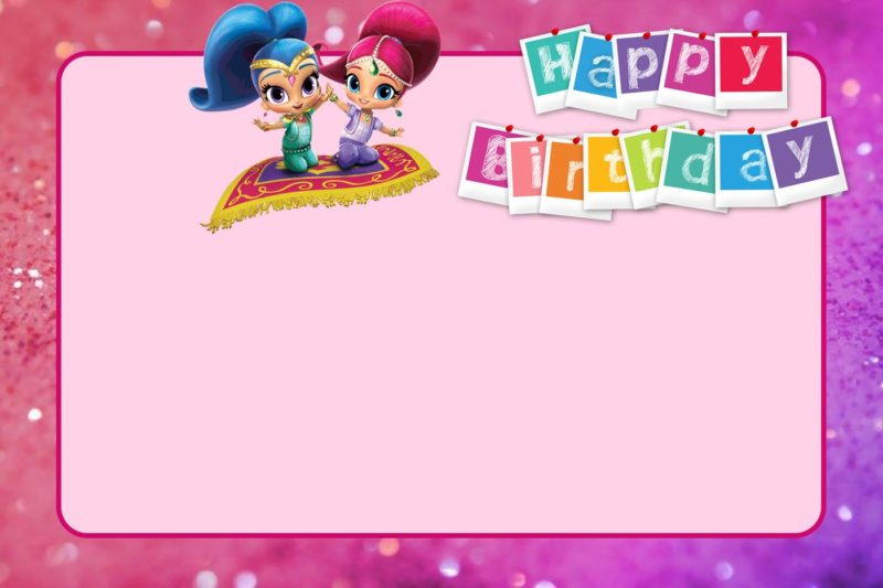 Free Printable Shimmer and Shine Birthday Invitation