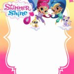 Free Printable Shimmer and Shine Invitation Card 150x150