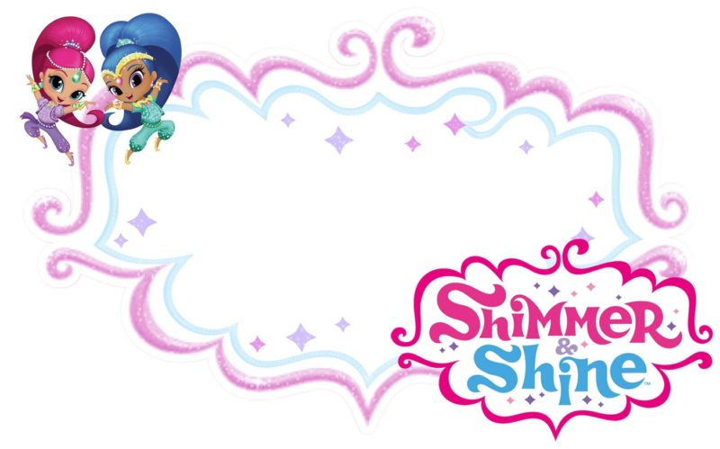 Free Printable Shimmer and Shine Invitation