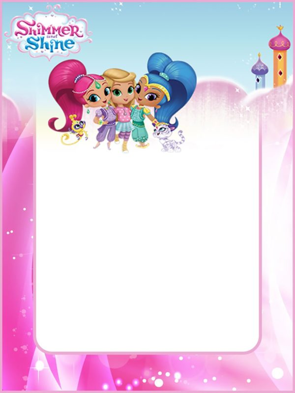 Free Shimmer and Shine Invitation Card