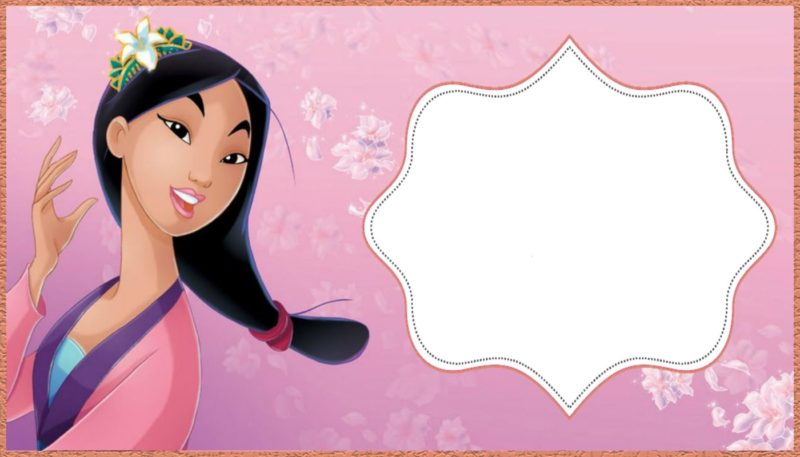 Mulan Invitation Template