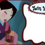 Printable Mulan Party Invitation
