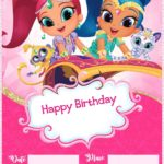 Shimmer and Shine Birthday Party Invitation Template 150x150