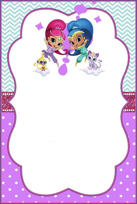 Shimmer and Shine Invitation Card