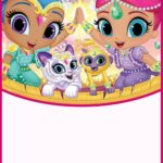 Shimmer and Shine Party Invitation Card 150x150