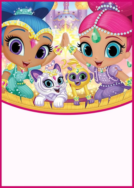 shimmer and shine invitations for girls free invitation templates