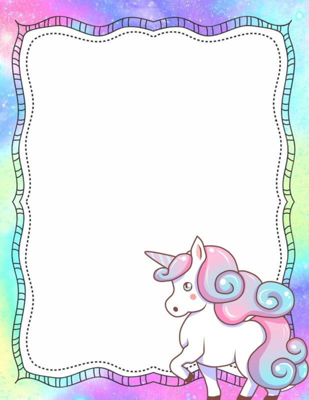 Baby Unicorn Invitation Design