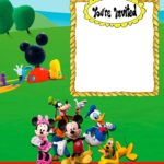Custom Mickey Mouse Invitation Card 150x150