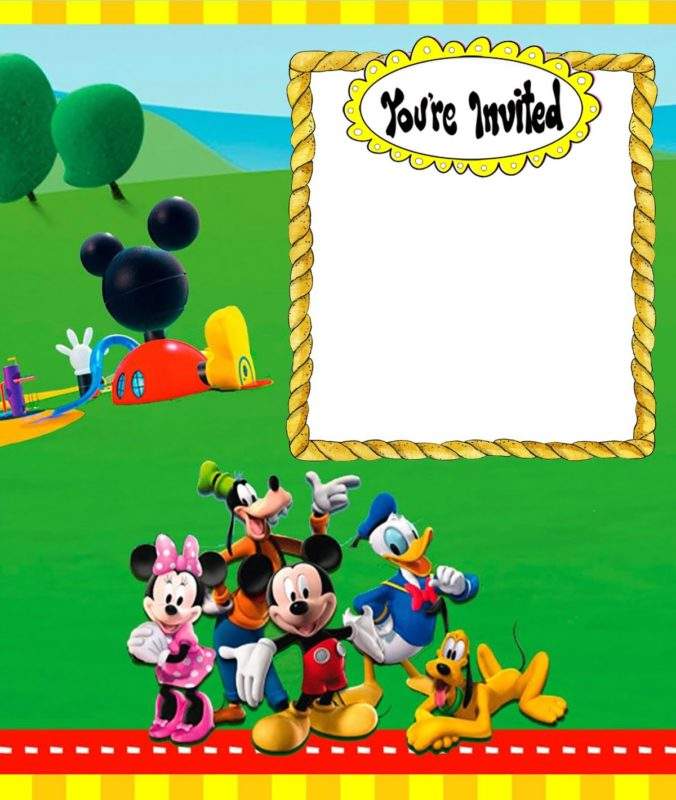 Custom Mickey Mouse Invitation Card