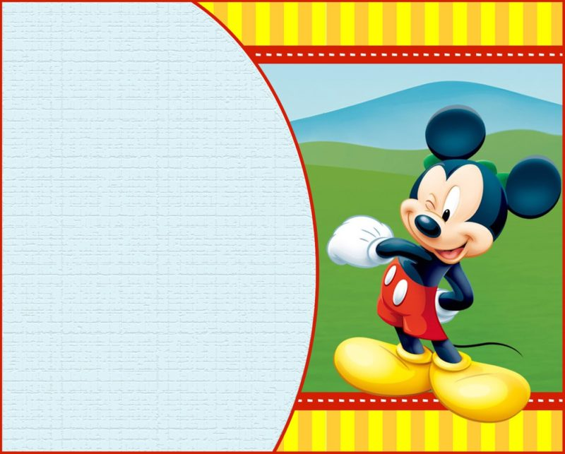 Custom Mickey Mouse Invitation Template