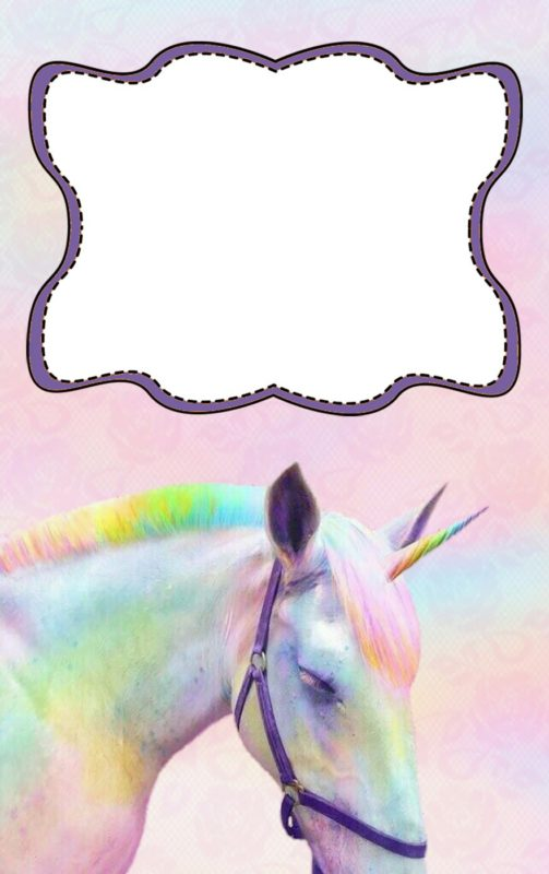 Free Online Unicorn Invitation Template