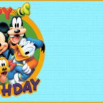 Free Printable Mickey Mouse Birthday Invitation Template 150x150