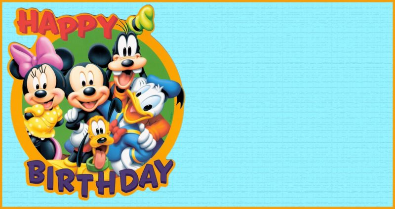 Free Printable Mickey Mouse Birthday Invitation Template