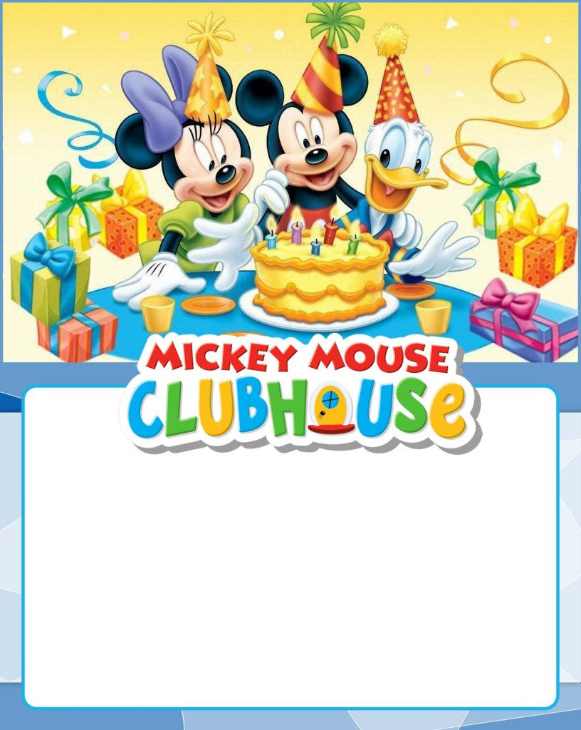 Free Printable Mickey Mouse Clubhouse Invitation 816x1024