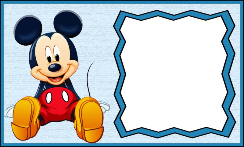Free Printable Mickey Mouse Invitation Template