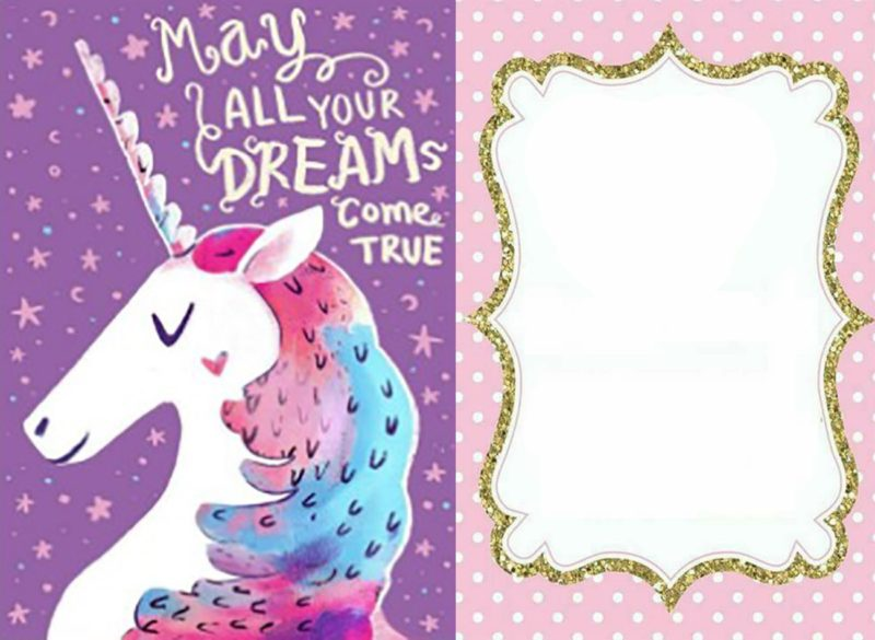 graphic regarding Free Printable Unicorn Invitations identified as Insert magic in direction of your occasion! Send out legendary Unicorn invites