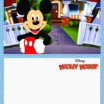Printable Mickey Mouse Invitation Card 150x150