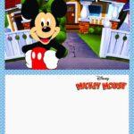 Printable Mickey Mouse Invitation Card