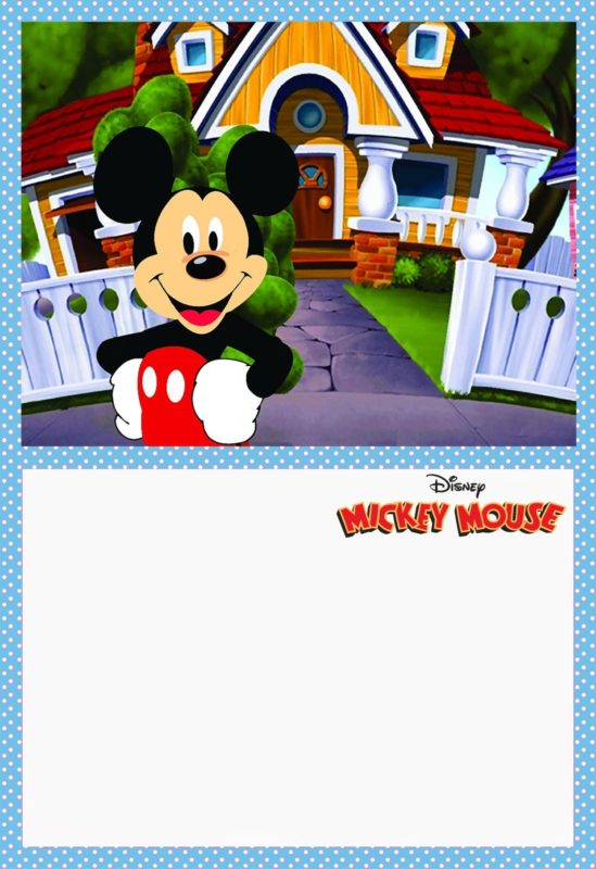 Printable Mickey Mouse Invitation Card