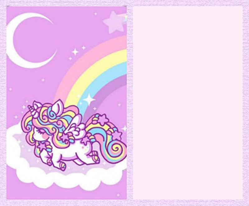Printable Unicorn Invitation Template
