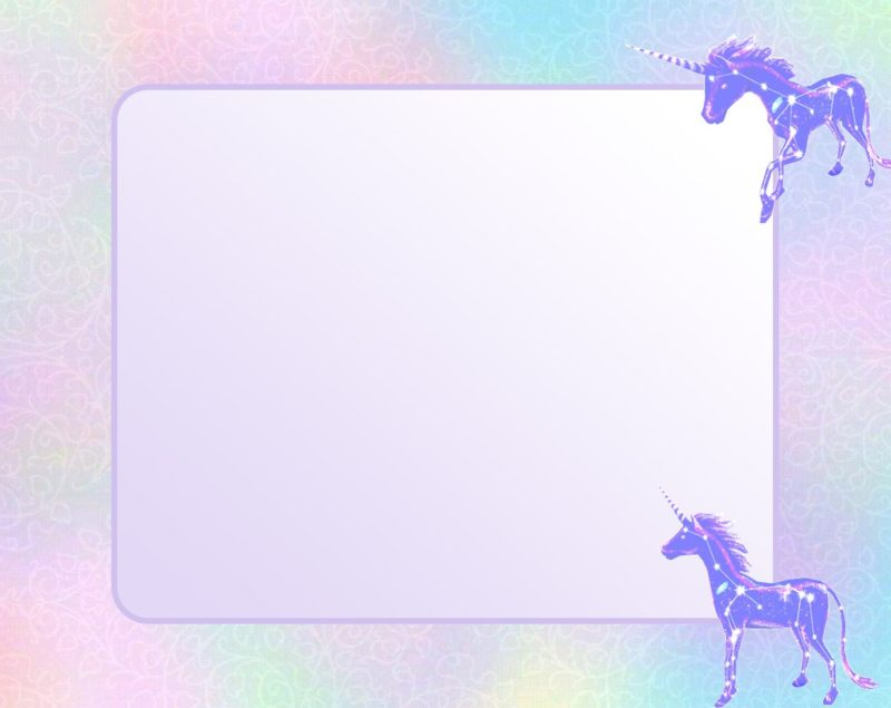 Unicorn Invitation Card