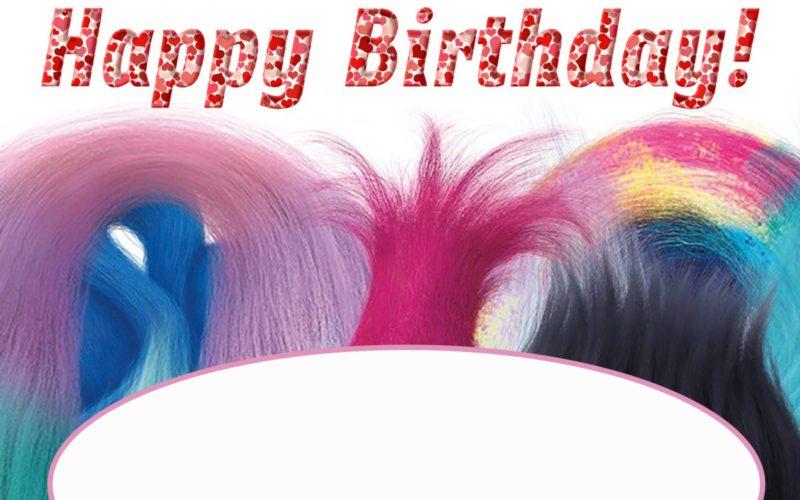 Birthday Invitation Trolls Theme