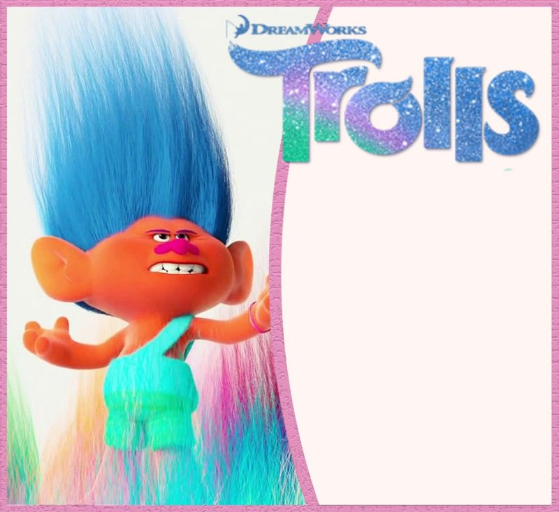 Cute Trolls Invitation Template