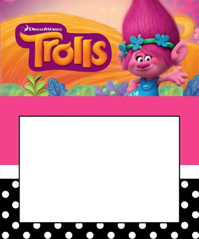 Editable Trolls Invitation Template