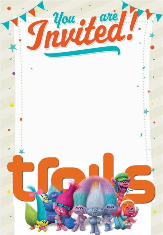 Empty Trolls Invitation Card