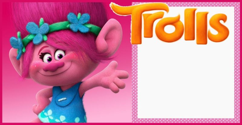 Free Printable Trolls Invitation for Girls