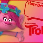 Trolls Birthday Invitation for Girls 150x150