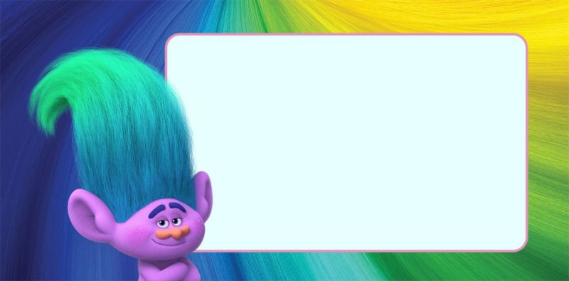 Trolls Invitation Card Design