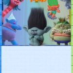 Trolls Invitation Card for Boys