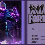 Blank Fortnite Invitation Card 150x150