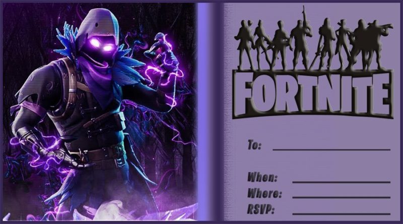 Blank Fortnite Invitation Card